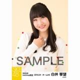 SKE48 2018年1月度 net shop限定個別生写真「ポンポンファー」5枚セット 白井琴望