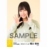 SKE48 2018年1月度 net shop限定個別生写真「ポンポンファー」5枚セット 福士奈央