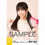 SKE48 2018年2月度 net shop限定個別生写真「バレンタイン」5枚セット 野村実代