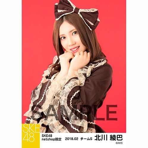 SKE48 2018年2月度 net shop限定個別生写真「バレンタインII」5枚セット 北川綾巴