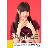 SKE48 2018年2月度 net shop限定個別生写真「バレンタインII」5枚セット 野村実代
