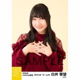SKE48 2018年2月度 net shop限定個別生写真「ニットワンピース」5枚セット 白井琴望