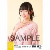 SKE48 2018年3月度 net shop限定個別生写真「花柄スカート」5枚セット 野島樺乃