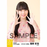 SKE48 2018年3月度 net shop限定個別生写真「花柄スカート」5枚セット 渥美彩羽