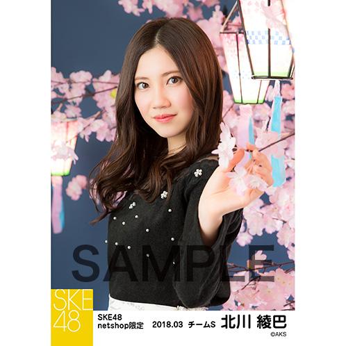 SKE48 2018年3月度 net shop限定個別生写真「夜桜」5枚セット 北川綾巴
