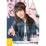 SKE48 2018年3月度 net shop限定個別生写真「夜桜」5枚セット 竹内彩姫