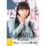 SKE48 2018年3月度 net shop限定個別生写真「夜桜」5枚セット 深井ねがい