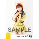SKE48 2018年5月度 個別生写真5枚セット 竹内彩姫