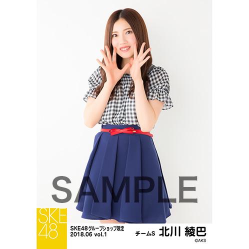 SKE48 2018年6月度 net shop限定個別生写真5枚セットvol.1 北川綾巴