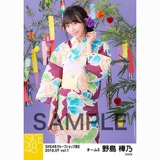 SKE48 2018年7月度 net shop限定個別生写真5枚セットvol.1 野島樺乃