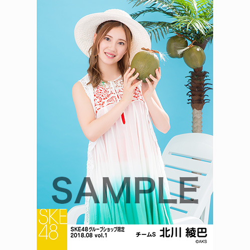 SKE48 2018年8月度 net shop限定個別生写真5枚セットvol.1 北川綾巴