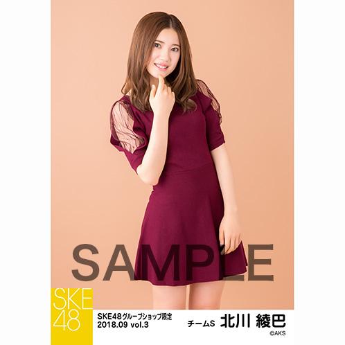 SKE48 2018年9月度 net shop限定個別生写真5枚セットvol.3 北川綾巴