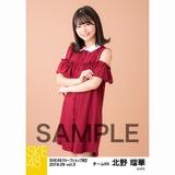 SKE48 2018年9月度 net shop限定個別生写真5枚セットvol.3 北野瑠華