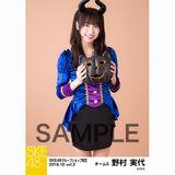 SKE48 2018年10月度 net shop限定個別生写真5枚セットvol.2 野村実代