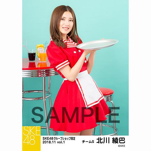 SKE48 2018年11月度 net shop限定個別生写真5枚セットvol.1 北川綾巴