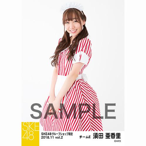 SKE48 2018年11月度 net shop限定個別生写真5枚セットvol.2 須田亜香里