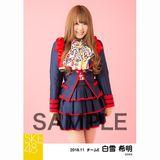 SKE48 2018年11月度 個別生写真5枚セット 白雪希明