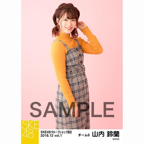 SKE48 2018年12月度 net shop限定個別生写真5枚セットvol.1 山内鈴蘭