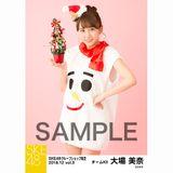 SKE48 2018年12月度 net shop限定個別生写真5枚セットvol.3 大場美奈