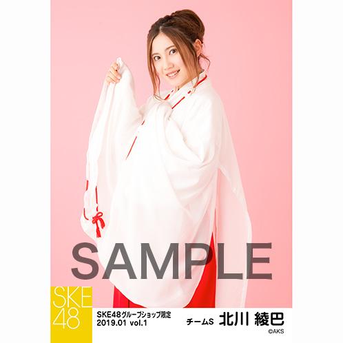 SKE48 2019年1月度 net shop限定個別生写真5枚セットvol.1 北川綾巴