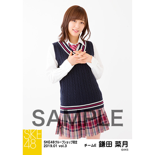 SKE48 2019年1月度 net shop限定個別生写真5枚セットvol.3 鎌田菜月