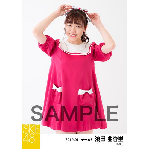 SKE48 2019年1月度 個別生写真5枚セット 須田亜香里