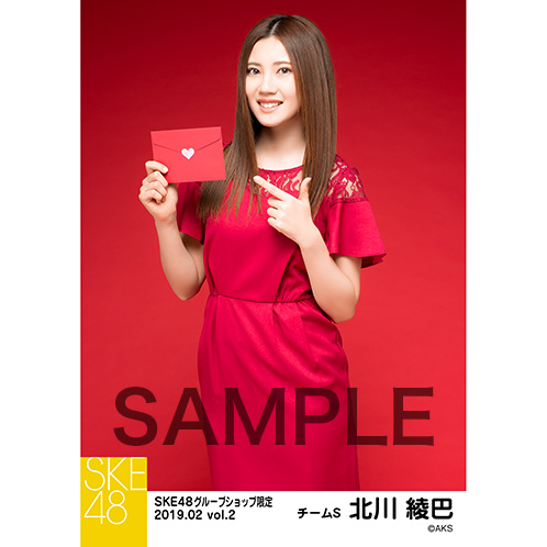 SKE48 2019年2月度 net shop限定個別生写真5枚セットvol.2 北川綾巴