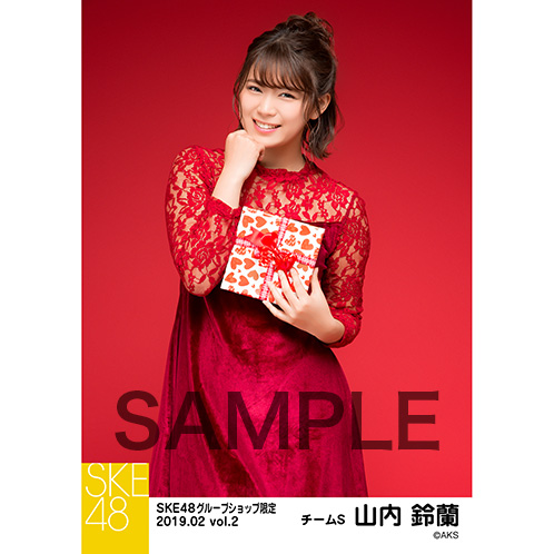 SKE48 2019年2月度 net shop限定個別生写真5枚セットvol.2 山内鈴蘭