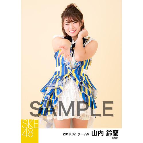 SKE48 2019年2月度 個別生写真5枚セット 山内鈴蘭