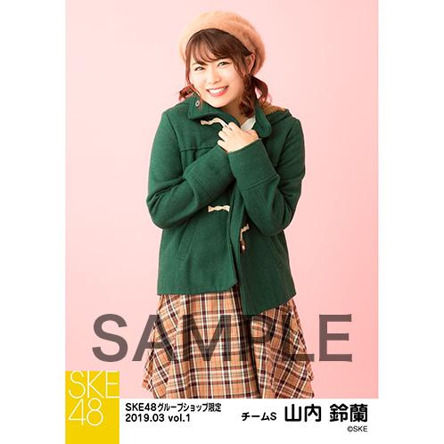 SKE48 2019年3月度 net shop限定個別生写真5枚セットvol.1 山内鈴蘭