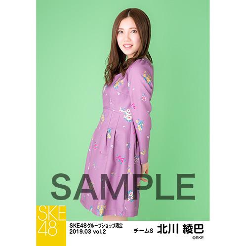 SKE48 2019年3月度 net shop限定個別生写真5枚セットvol.2 北川綾巴