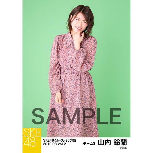 SKE48 2019年3月度 net shop限定個別生写真5枚セットvol.2 山内鈴蘭