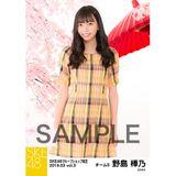 SKE48 2019年3月度 net shop限定個別生写真5枚セットvol.3 野島樺乃