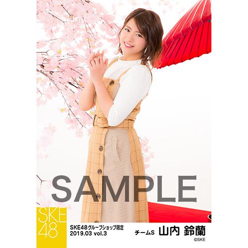 SKE48 2019年3月度 net shop限定個別生写真5枚セットvol.3 山内鈴蘭