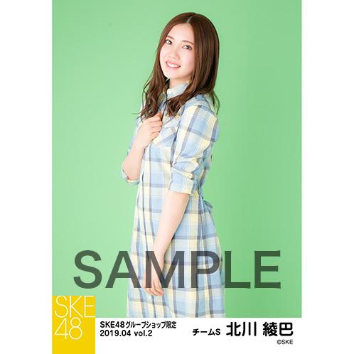 SKE48 2019年4月度 net shop限定個別生写真5枚セットvol.2 北川綾巴