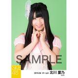 SKE48 2019年4月度 個別生写真5枚セット 北川愛乃