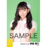 SKE48 2019年4月度 個別生写真5枚セット 野島樺乃