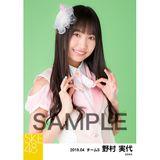 SKE48 2019年4月度 個別生写真5枚セット 野村実代