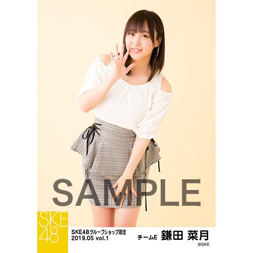 SKE48 2019年5月度 net shop限定個別生写真5枚セットvol.1 鎌田菜月