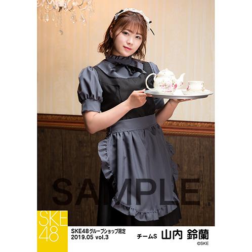SKE48 2019年5月度 net shop限定個別生写真5枚セットvol.3 山内鈴蘭