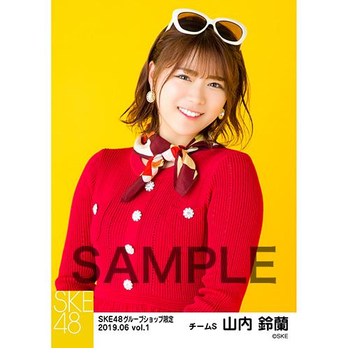 SKE48 2019年6月度 net shop限定個別生写真5枚セットvol.1 山内鈴蘭