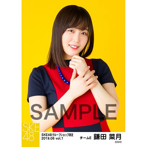 SKE48 2019年6月度 net shop限定個別生写真5枚セットvol.1 鎌田菜月