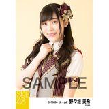 SKE48 2019年6月度 個別生写真5枚セット 野々垣美希