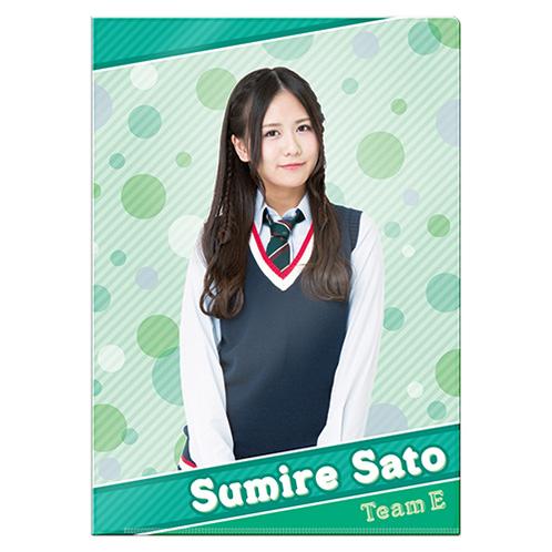 SKE48 2016年1月度個別グッズ「クリアファイル」 佐藤すみれ