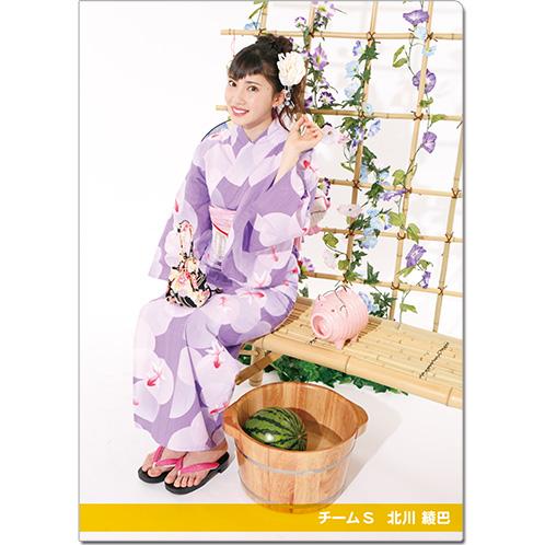 SKE48 2016年9月度個別グッズ「クリアファイル(浴衣Ver.)」 北川綾巴