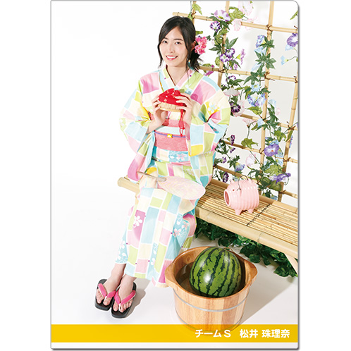 SKE48 2016年9月度個別グッズ「クリアファイル(浴衣Ver.)」 松井珠理奈