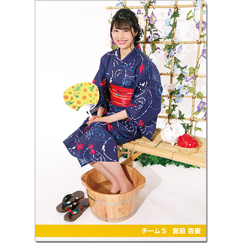 SKE48 2016年9月度個別グッズ「クリアファイル(浴衣Ver.)」 宮前杏実