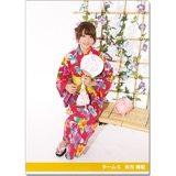 SKE48 2016年9月度個別グッズ「クリアファイル(浴衣Ver.)」 矢方美紀