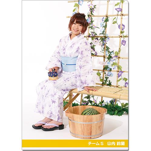 SKE48 2016年9月度個別グッズ「クリアファイル(浴衣Ver.)」 山内鈴蘭