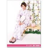 SKE48 2016年9月度個別グッズ「クリアファイル(浴衣Ver.)」 高木由麻奈